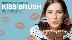 Photoshop Tutorials: How to Create a Kiss Brush in Photoshop (Free Download)