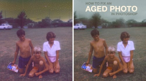 How_to_fix_an_aged_photo_in_photoshop