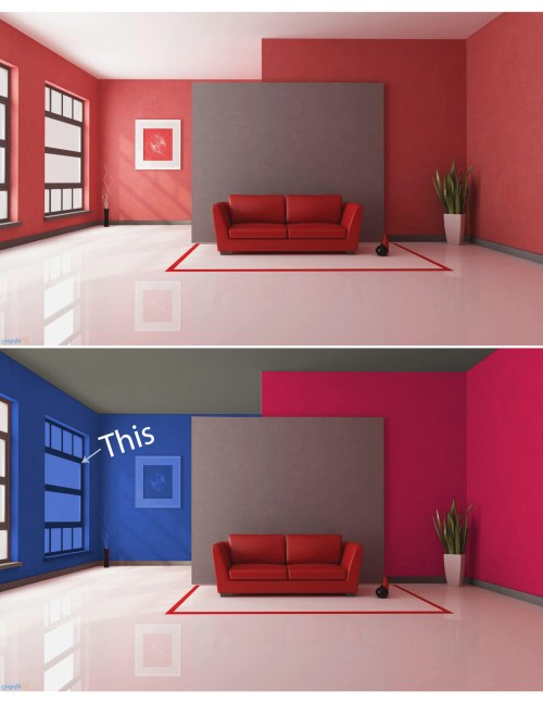 Photoshop Tutorials: How to Paint Your Walls in Photoshop