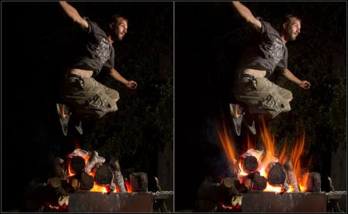 Photoshop Tutorials: How to Add Fire to Photos in Photoshop