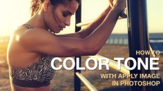 Photoshop Tutorials: How to Color Tone with Apply Image in Photoshop