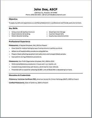 Phlebotomy Resume Templates And Resume On Pinterest Plus Free