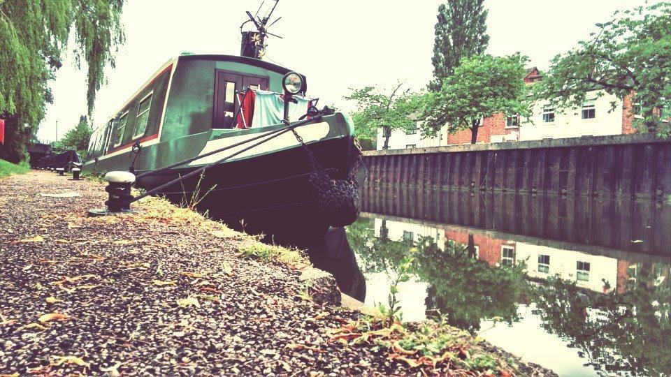 image of canal boat