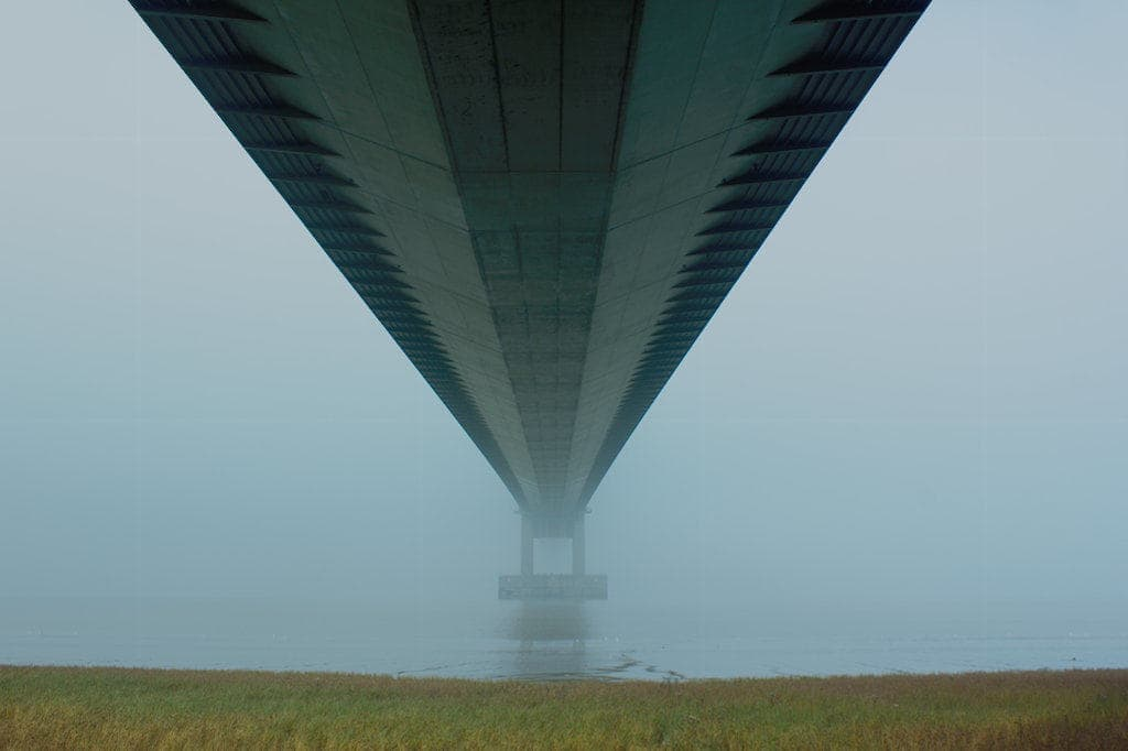 image of under the humber bridge