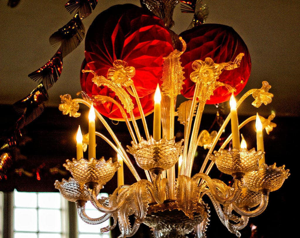 chandelier at doddington hall
