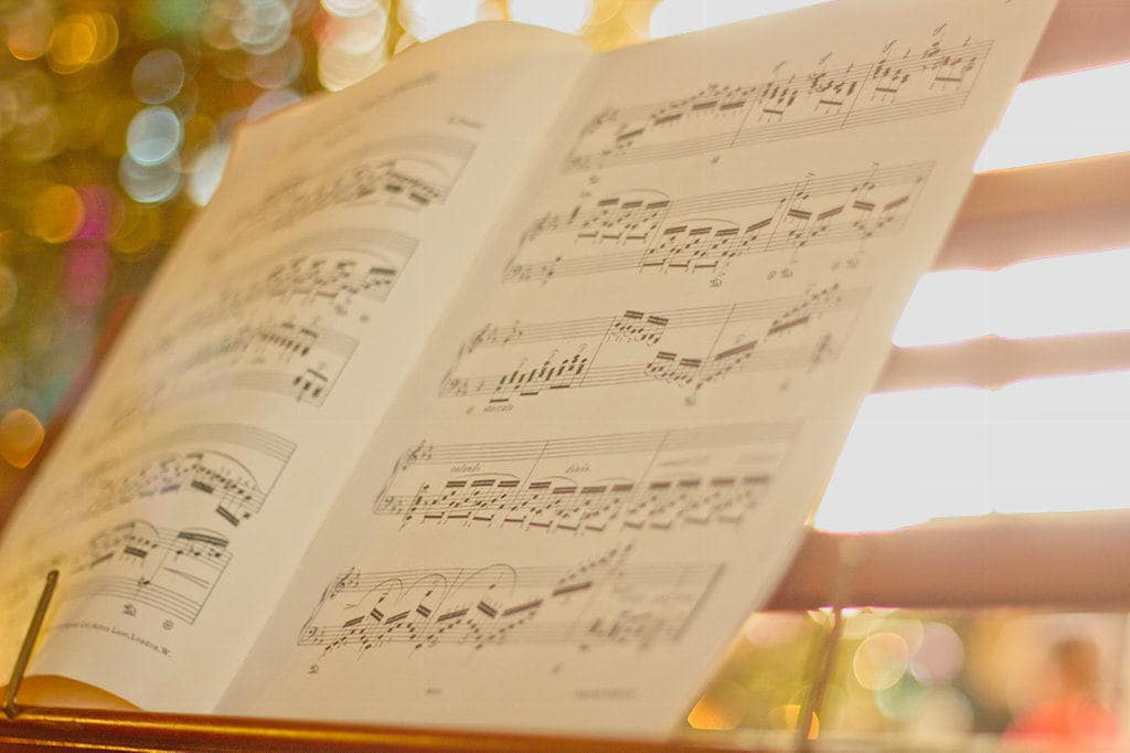 image of music notes at doddington hall