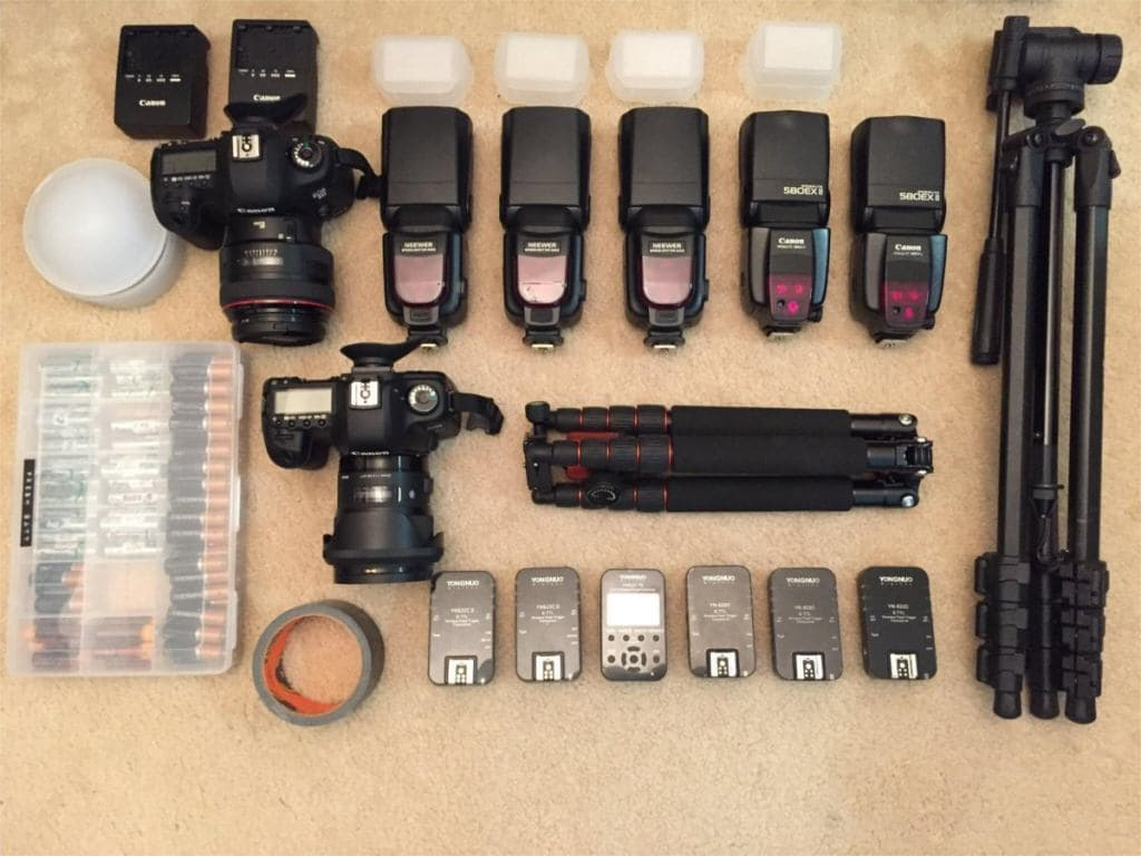 image of chris's camera equipment