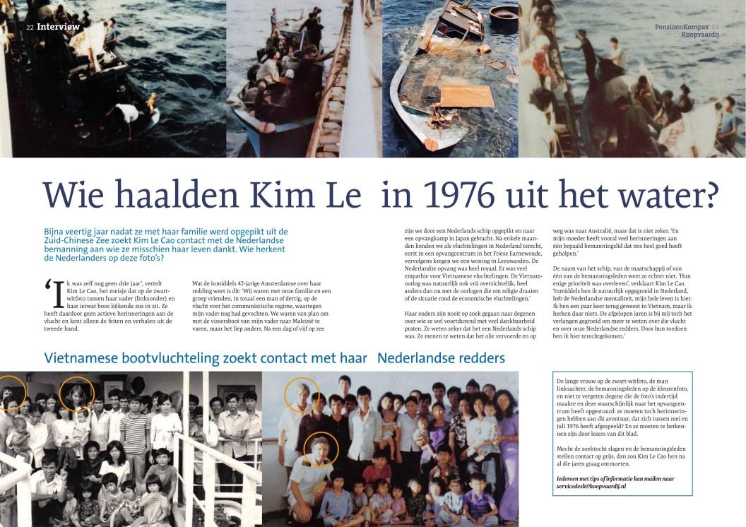 Oproep pensioenblad Koopvaardij 2015 (foto: Pho Vietnam © Kim Le Cao)