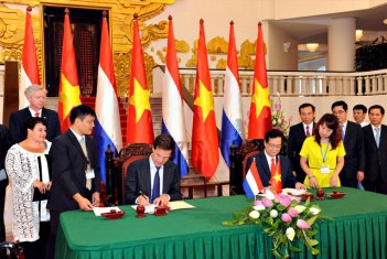 Premier Rutte in Vietnam 2014