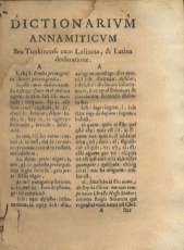 Woordenboek Vietnamees-Portugees en Latijn 1651 (Alexandre de Rhodes/Biblioteca Nacional de Portugal)