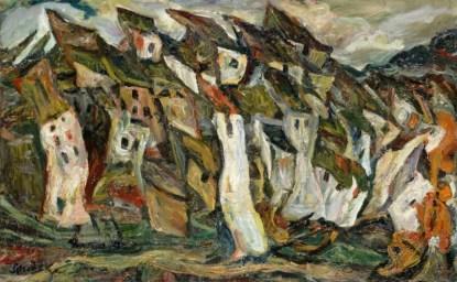 Chaïm Soutine Houses 1920-1921 Paris, musée de l'Orangerie © RMN-Grand Palais (musée de l'Orangerie) / Hervé Lewandowski