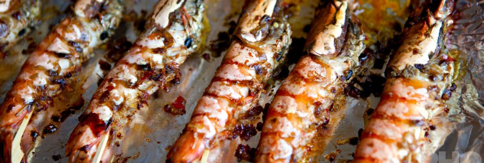 Gegrilde reuzengamba's in Sa te-marinade (foto: Kim Le Cao © Pho Vietnam)