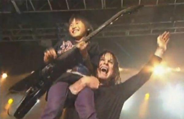 O Sortudo menininho com Ozzy