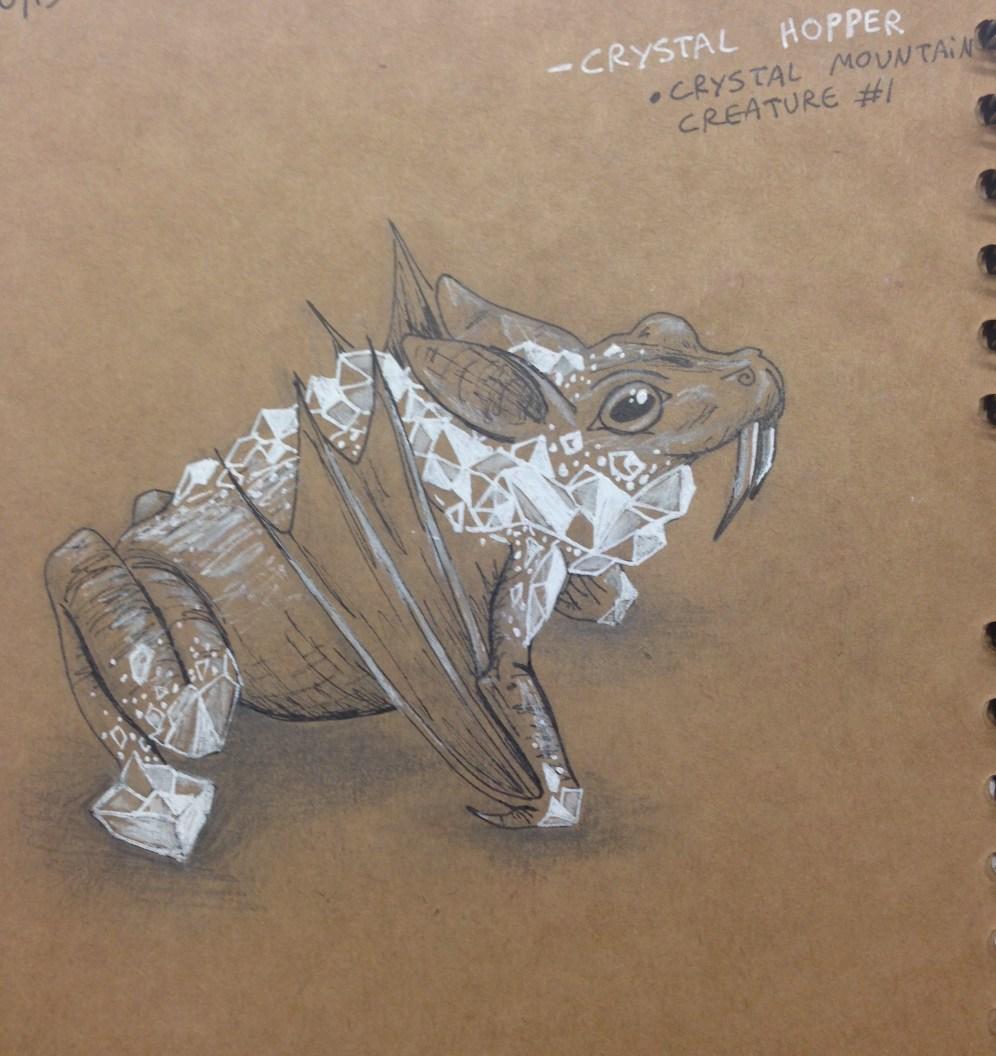 """Crystal Hopper"" creature design"