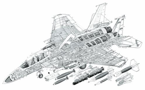 Military plane schematic