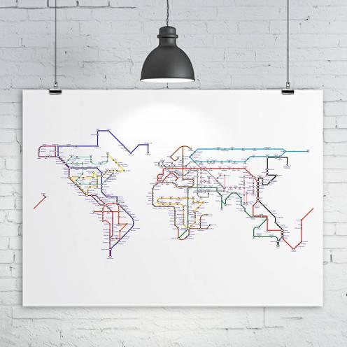 http://www.notonthehighstreet.com/kiaco/product/world-map-print-subway-tube-metro