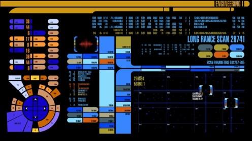 Star Trek original series monitor display
