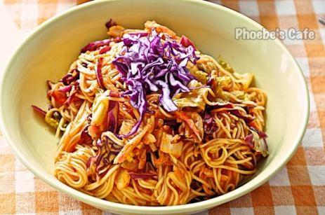 김치 비빔 국수 레시피