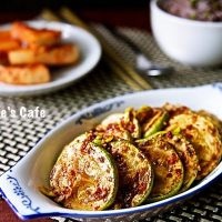 Korean pan fried zucchini salad