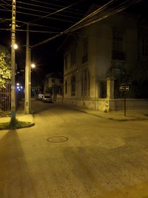 The street I live on; empty.