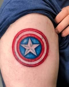 Captain America Shield Tattoo design