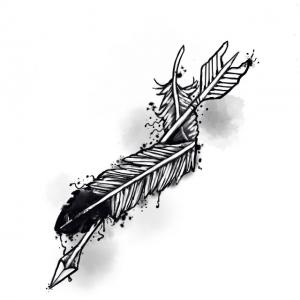 Arrow with Feather