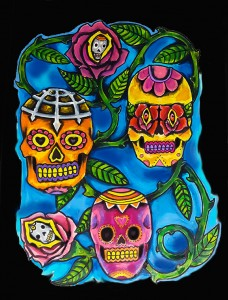 Sugar skulls mixed