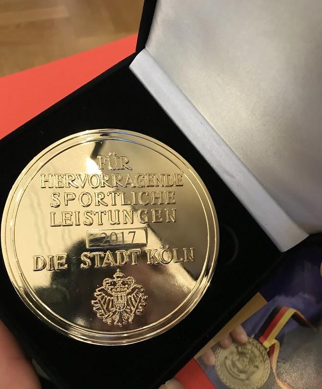 22. August 2020  Feierliche EHRUNG m.d. GROSSEN SPORTPLAKETTE für die erfolgreichsten Sportler/innen Kölns in der Flora
