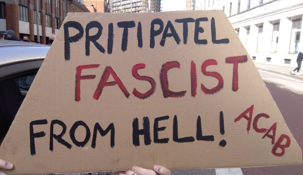 Protest banner