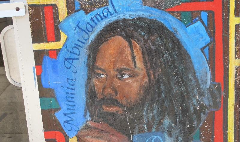 A portrait of Mumia Abu-Jamal