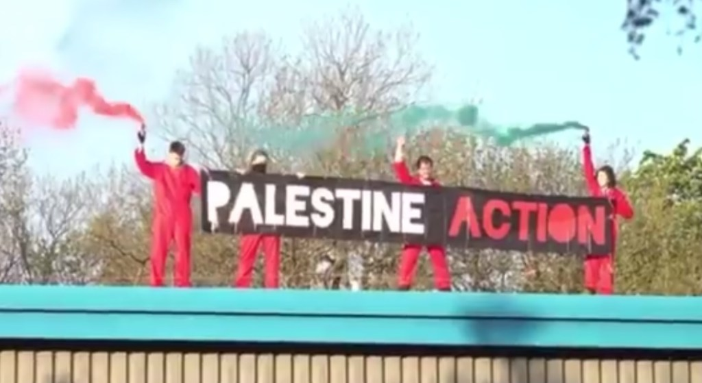 Palestine Action protesters in Leicester