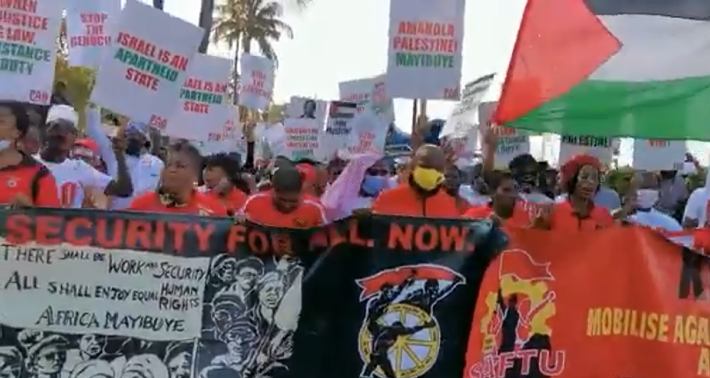 South Africans protest in solidarity with Palestine