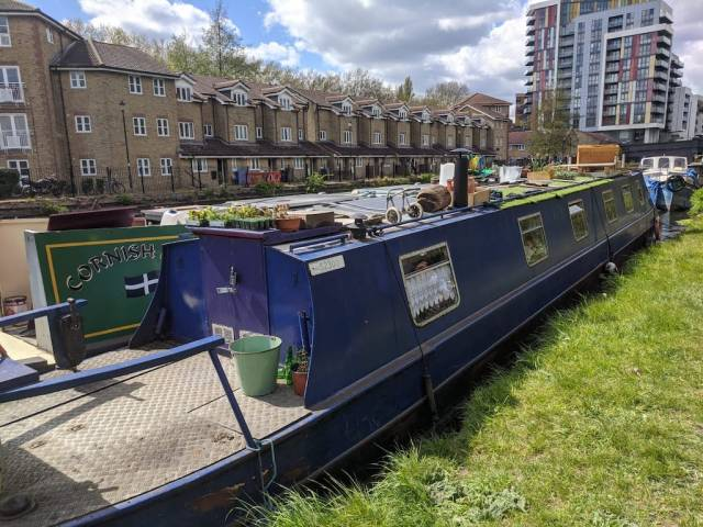 Houseboats on London canal