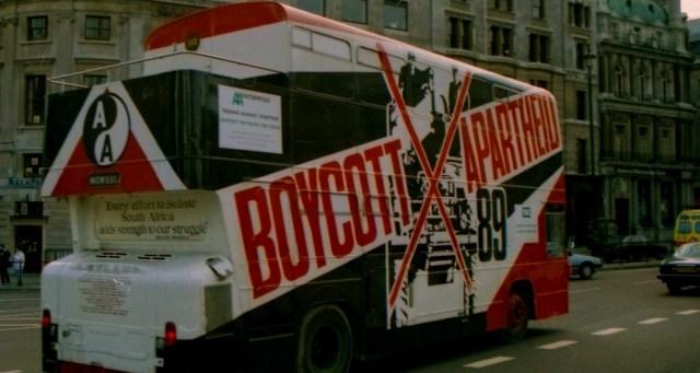 Boycott Apartheid bus