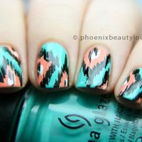 Nail Art Tutorial: Ikat Nails