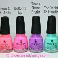 China Glaze Sunsational Summer 2013 Swatches