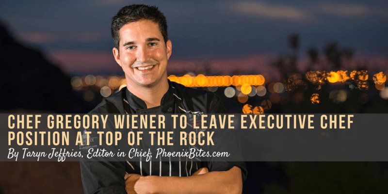 Chef Gregory Wiener to Leave Executive Chef Position At Top Of The RocK