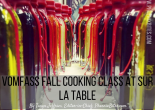 vomFASS Fall Cooking Class at Sur la Table