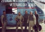 25 Local Restaurants Serving up Veterans Day Deals