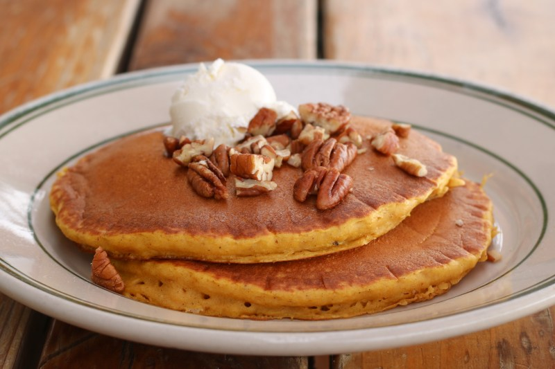 Pumpkin Pecan Pancakes available throughout the month of December at the Original Breakfast House