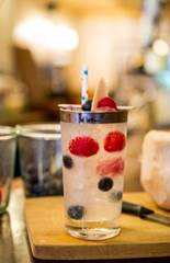 Red White and Blue Berries Cocktail