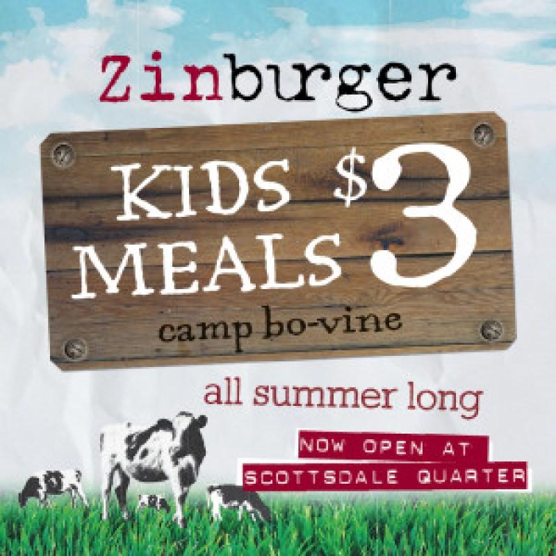 Zinburger Summer Kids Menu