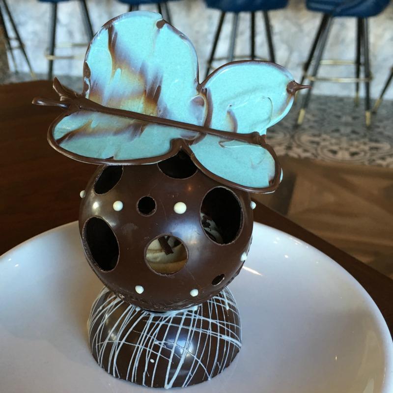Drexyl Modern American's Tagalong Cookie Dark Chocolate Sphere