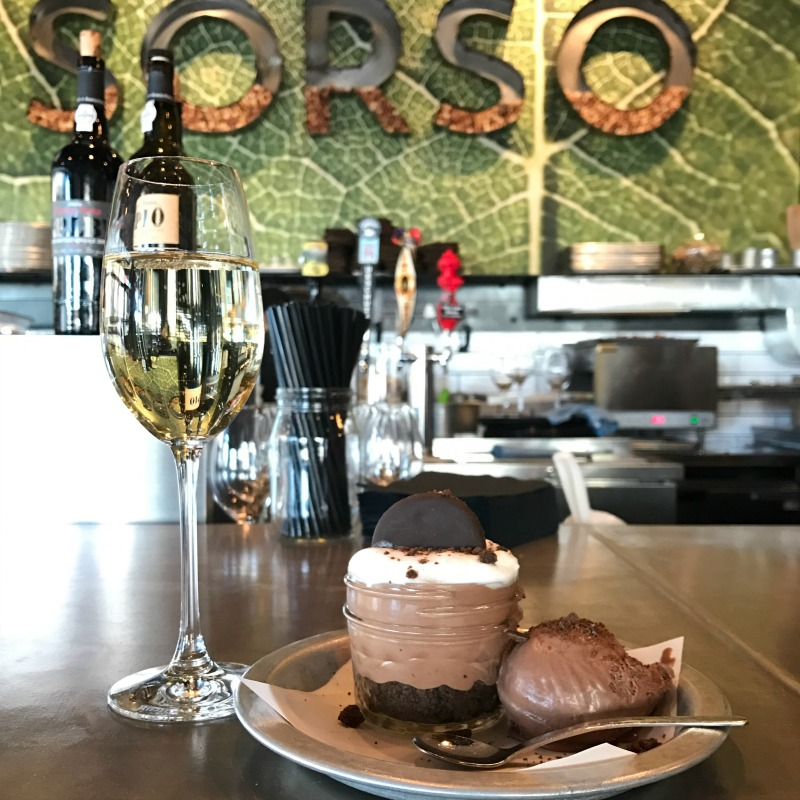 Sorso Wine Room 's#MintHappens Chocolate Mint Cheesecake Mousse