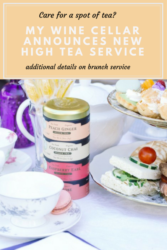 My Wine Cellar Announces Special High Tea Service