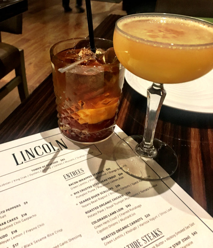 The Lincoln Restaurant Welcome Cocktails