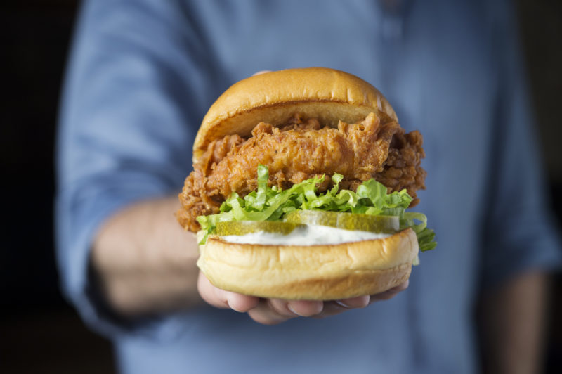 Chick'n Shack in hand