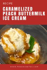 Caramelized Peach Buttermilk Ice Cream