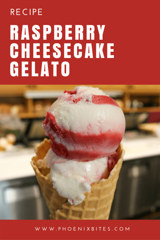 raspberry cheesecake gelato recipe