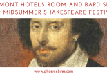 Claremont Hotels Room and Bard Special for Midsummer Shakespeare Festival